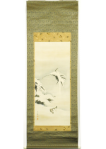 [:ja]望月玉渓 竹下雪雀図[:en]Mochizuki Gyokkei / Sparrows and bamboo on a snowy day[:]