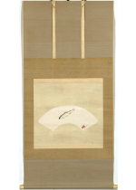 [:ja]中村岳陵 鮎 扇面[:en]Nakamura Gakuryo / Sweetfish[:]