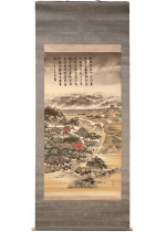 [:ja]乃木希典賛 高山泰画 日清戦役之図[:en]Inscription by Nogi Maresuke, painted by  Takayama Yasushi / First Sino-Japanese War[:]