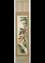 [:ja]石河有麟 秋山啄木鳥図[:en]Ishikawa Yurin / Woodpecker in Autumn Mountain[:]