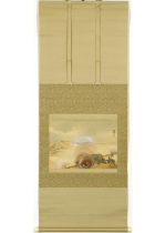 [:ja]寺崎広業 明治卅七年三十里堡戦闘砲兵陣地所見之一[:en]ink and colour on silk[:]