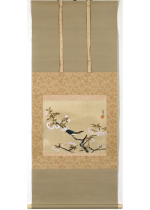 [:ja]冨田渓仙 桜花小禽[:en]Tomita Keisen / A little bird and cherry blossom[:]