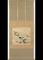 [:ja]冨田渓仙 桜花小禽[:en]Tomita Keisen / A little bird and cherry blossom[:]