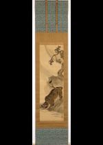 [:ja]山口素絢 急風水呑虎図[:en]Yamaguchi Soken / A tiger drinking water in a strong wind[:]